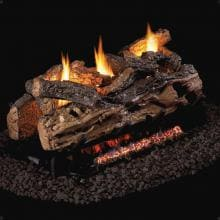 Peterson Real Fyre 24-Inch Split Oak See-Thru Gas Log Set With Vent-Free Propane ANSI Certified G9 Burner - Basic On/Off Remote Peterson Real Fyre 24-Inch Split Oak See-Thru Gas Log Set With Vent-Free Propane ANSI Certified G9 Burner - Basic On/Off Remote