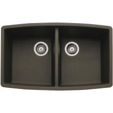Blanco Performa 33 X 20 Silgranit II Equal Double Bowl Undermount Sink - Cafe Brown - 440068 image