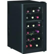 Baxter 70-Inch Electric Fireplace Media Console And Wine Cooler - Empire Cherry - 26TF2322 Baxter Dual Zone Wine Cooler
