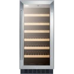 Summit 15-Inch 33 Bottle Wine Cooler - Stainless Steel / Black Cabinet - SWC1535B image