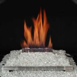 Rasmussen 20-Inch Platinum ALTERNA See-Thru FireGlitter Set With Vent Free Natural Gas Stainless Steel Chassis Burner - Variable Flame Remote image
