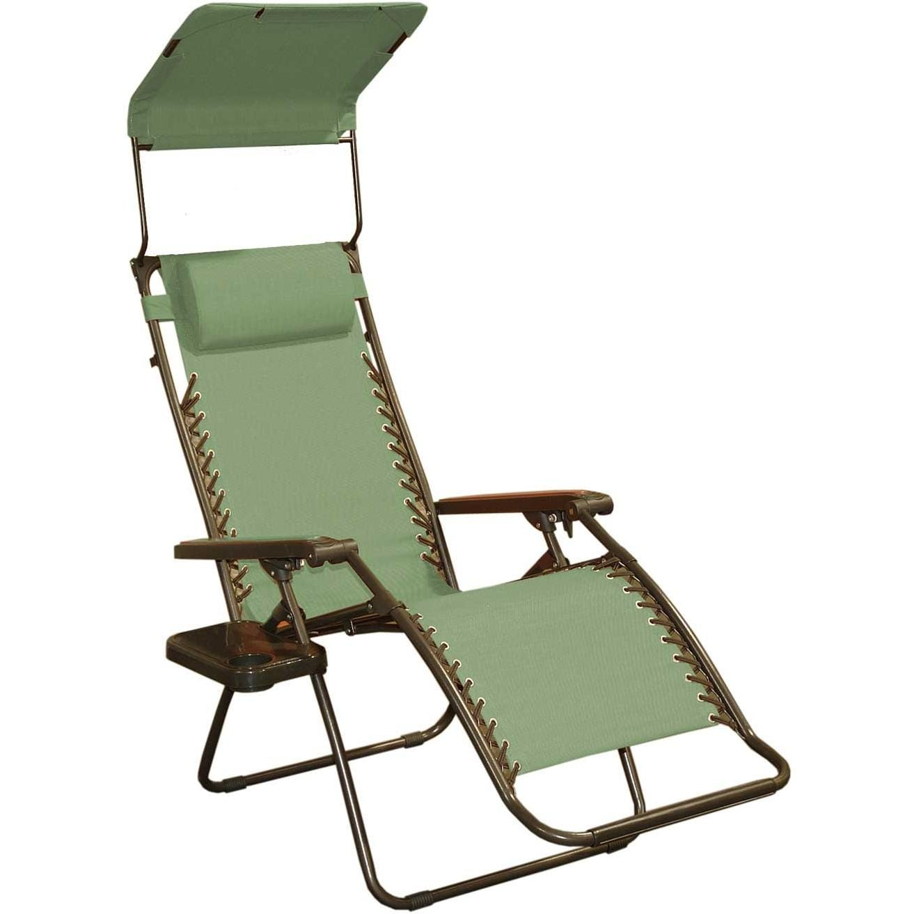 bliss hammocks extra wide gravity free recliner with canopy shade   sage green bliss hammocks extra wide gravity free recliner with canopy shade      rh   ultimatepatio