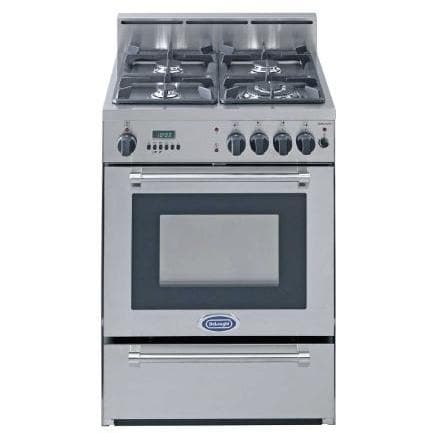Delonghi Self Cleaning Stainless Steel Range With 4 Burners - 24 Inch