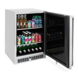 Lynx 24-Inch 5.3 Cu. Ft. Right Hinge Outdoor Rated Compact Refrigerator / Kegerator - LM24BFR image