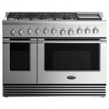 DCS 48-Inch Professional 6-Burner Dual-Fuel Natural Gas Range With Griddle - RDV2-486GD-N image