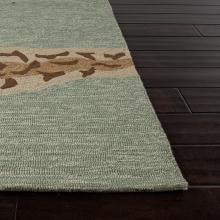 Jaipur Rugs Grant Sea Star 2 X 3 Indoor/Outdoor Rug - Blue/Brown Jaipur Rugs Grant Sea Star 2 X 3 Indoor/Outdoor Rug - Corner and Edge Detail