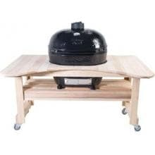 Primo Curved Cypress Table For Oval XL Primo Curved Cypress Table - Shown with Oval XL (Grill not included)