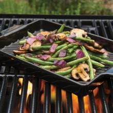 Flame-Friendly 13 X 8 Inch Ceramic Grilling Pan