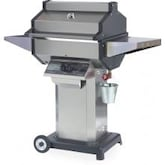 Phoenix SDSSOCN Stainless Steel Natural Gas Grill Head On Stainless Steel Pedestal Cart With Aluminum Base