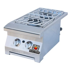 Solaire Natural Gas Built-In Double Side Burner - SOL-IRSB-14-NG image