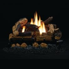 White Mountain Hearth By Empire 18-Inch Kennesaw Gas Log Set With Vent-Free Propane HearthRite Burner - On/Off Wall Switch image