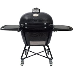 Primo All-In-One Oval XL Ceramic Kamado Grill With Cradle & Side Shelves - 7800