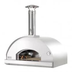 Fontana Forni Forno Toscano Mangiafuoco 39-Inch Countertop Outdoor Wood-Fired Pizza Oven - Stainless image