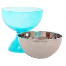 Oggi 2 Piece Acrylic And Stainless Steel Dessert Bowl - AQUA Oggi Dessert Bowl 5372-6 Bowl Insert