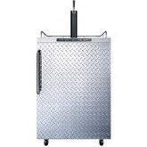 Summit 24-Inch 5.6 Cu. Ft. Outdoor Rated Single Tap Beer Dispenser / Kegerator - Diamond Plate Aluminum - SBC635MOSDPL