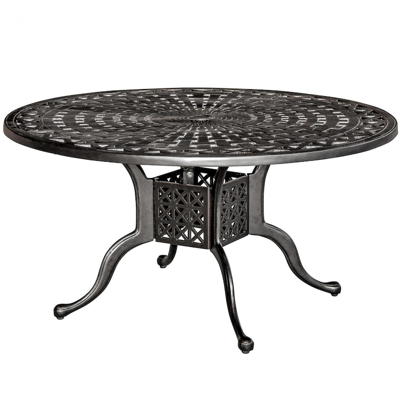 Aluminum Patio Coffee Table: Classique 42 Inch Round Cast Aluminum Patio Coffee Table