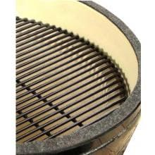 Primo Large Round Ceramic Kamado Grill Primo Large Round Ceramic Kamado Charcoal Smoker Grill - Porcelain Coated Cooking Grate
