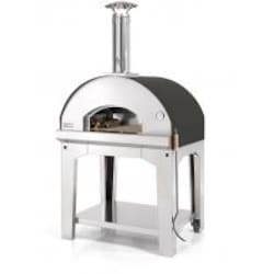 Fontana Forni Forno Toscano Mangiafuoco 39-Inch Outdoor Wood-Fired Pizza Oven - Black image