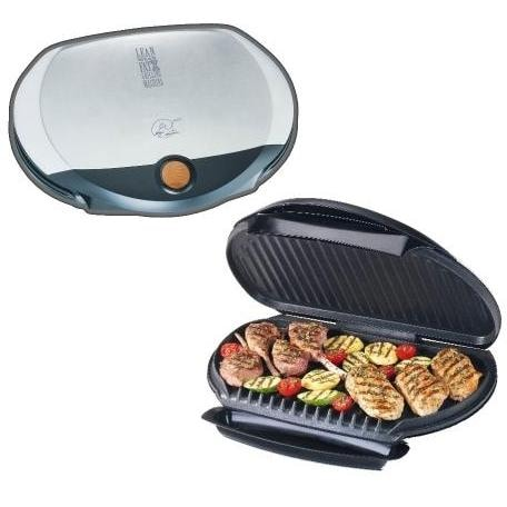 George Foreman GR31SB Jumbo Stainless Steel Indoor Electric Grill