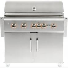 Coyote S-Series 42-Inch 5-Burner Freestanding Natural Gas Grill With RapidSear Infrared Burner & Rotisserie image