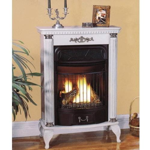 ProCom E-Series Vent-Free Fireplace - White LP : ShoppersChoice.com