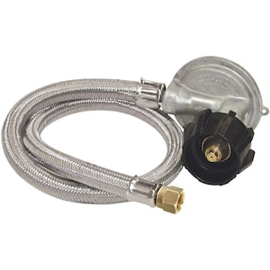 Bayou Classic 36 Inch Stainless Braided Hose With Low Pressure Regulator M5LPH image