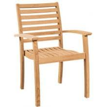 Royal Collection by HiTeak Furniture Teak Stacking Patio Arm Chairs - Set Of 4 image