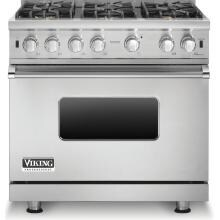 Viking Professional 5 Series 36-Inch 6 Burner Natural Gas Range - Stainless Steel - VGCC5366BSS image