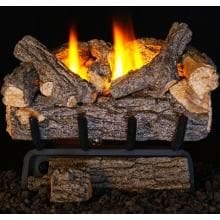 Peterson Real Fyre 20-Inch Valley Oak Gas Log Set With Vent-Free Natural Gas ANSI Certified 20,000 BTU G8 Burner - Manual Safety Pilot