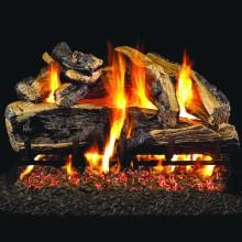 Charred Rugged Split Oak Peterson Real Fyre Vented Set