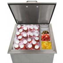 BBQGuys.com Kingston Drop-In Ice Bin Cooler With Condiment Holder