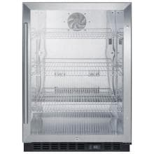 Summit Commercial 24-Inch 5.0 Cu. Ft. Beverage Refrigerator - Stainless Steel - SCR610BLCSS image