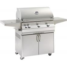 Fire Magic Aurora A540s 30-Inch Freestanding Propane Gas Grill With One Infrared Burner, Analog Thermometer And Single Side Burner - A540s-5LAP-62