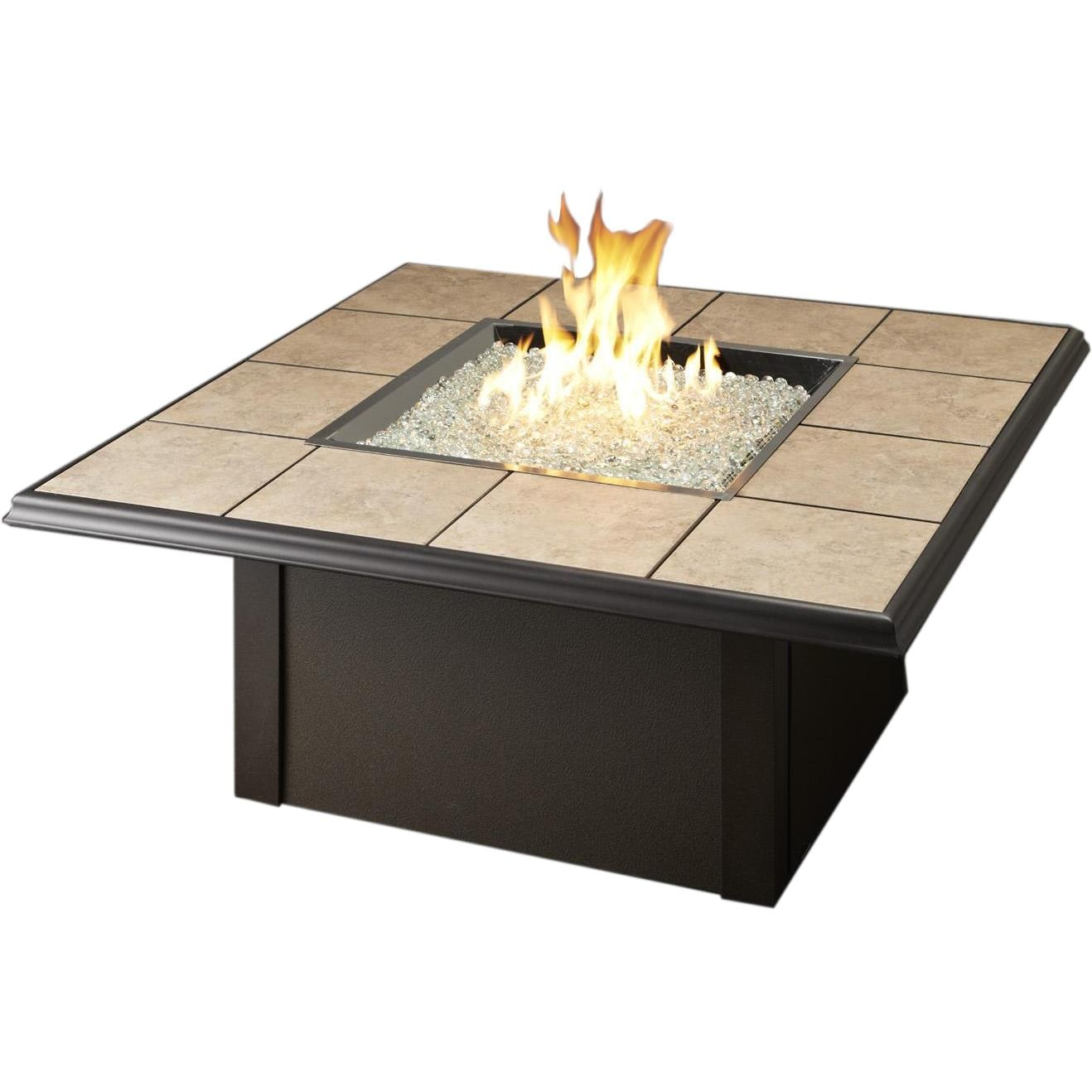 Napa Valley Propane Fire Pit Table By Outdoor GreatRoom Company   Brown