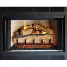 Peterson Real Fyre 30-Inch Split Oak Gas Log Set With Vented Propane ANSI Certified G46 Burner - Manual Safety Pilot Peterson Split Oak Fireplace