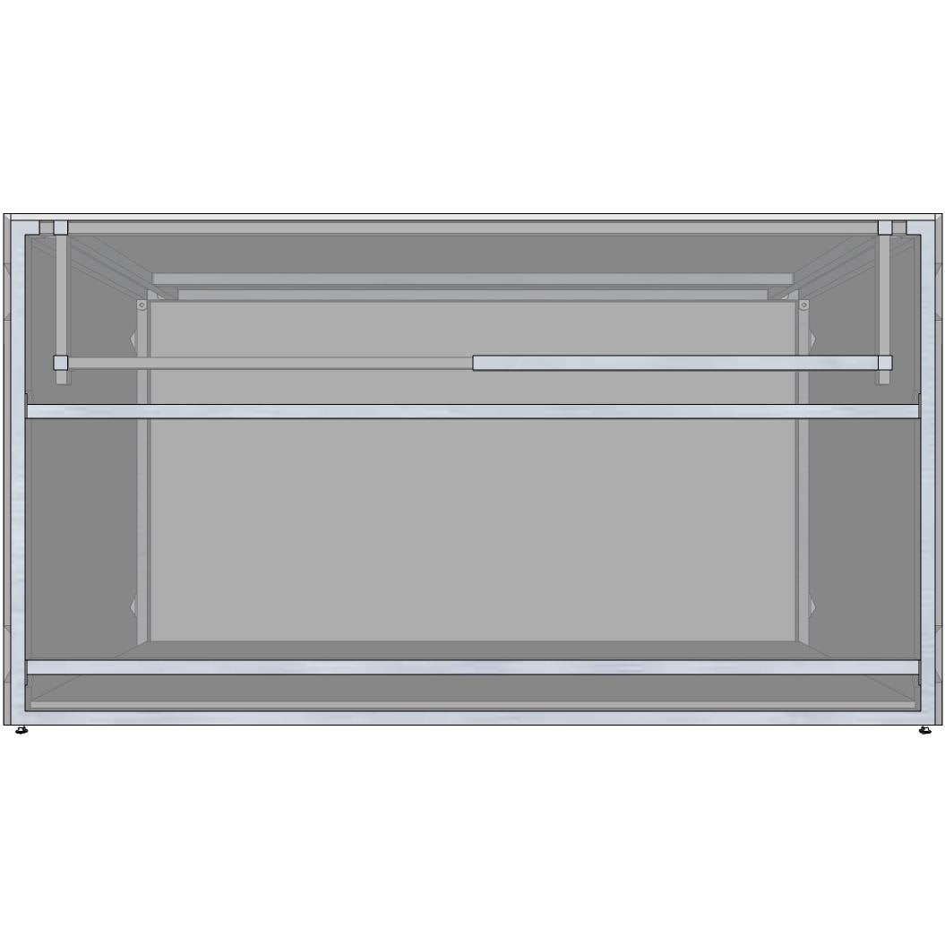 Universal 66-Inch Ready To Finish BBQ Island Appliance And Storage Cabinet