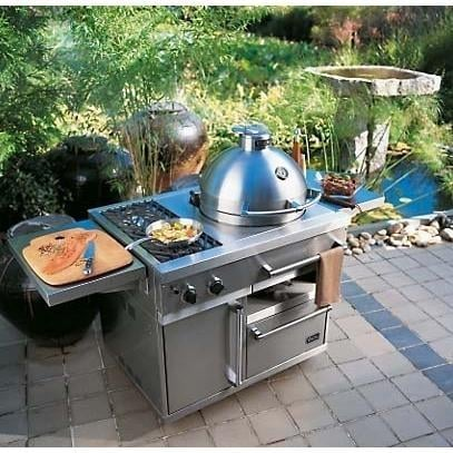 Viking ceramic outdoor cooker c4 charcoal kamado grill for Viking outdoor