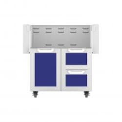 Hestan Double Drawer And Door Tower Cart For 30-Inch Gas Grill - Prince - GCR30-BU image