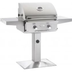 American Outdoor Grill L-Series 24-Inch 2-Burner Natural Gas Grill On Pedestal - 24NPL-00SP image