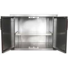 BBQGuys.com Kingston Series 42-Inch Stainless Steel Enclosed Cabinet Storage With Shelf BBQGuys.com Kingston Series Double Access Door With Enclosed Storage Inside View