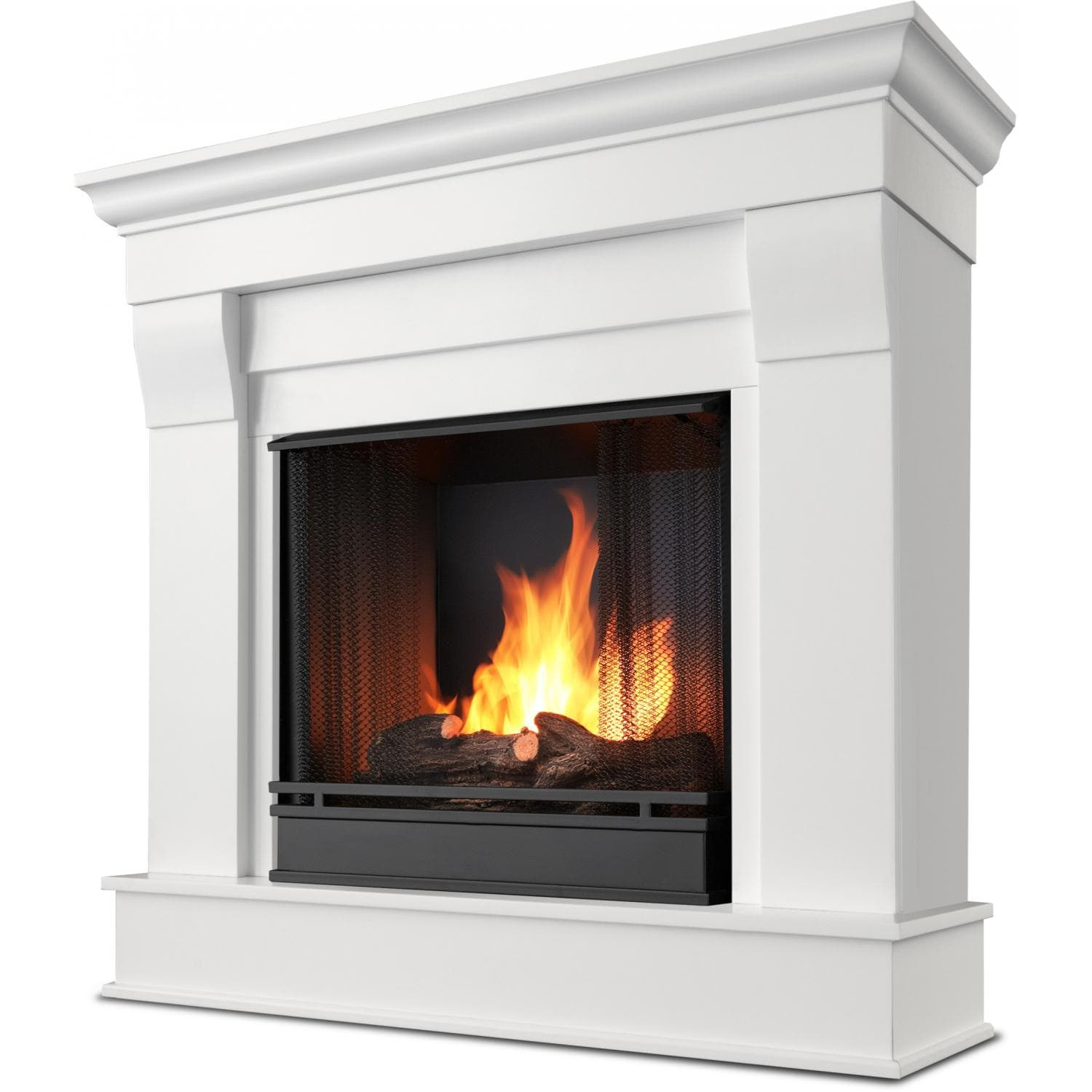 White Ventless Natural Gas Fireplace Fireplaces