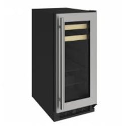 U-Line 1000 Series 15-Inch 3.0 Cu. Ft. Built-In Beverage Center - Stainless Steel - U-1215BEVS-00A image