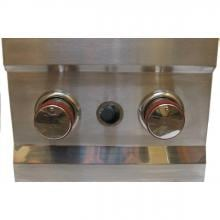 Sunstone Slide-In Natural Gas Double Side Burner - 2CSB-NG Sunstone Double Side Burner - Control Knobs