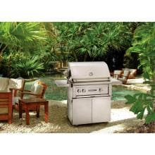 Lynx Sedona 30-Inch Freestanding Natural Gas Grill With One Infrared ProSear Burner And Rotisserie - L500PSR-NG Sedona By Lynx 30 Inch Natural Gas Grill On Cart With ProSear Burner And Rotisserie On Patio