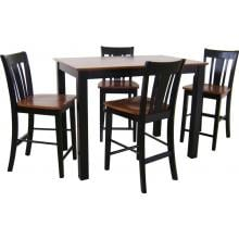 International Concepts Dining Essentials Shaker Styled Dining Set - T57-3048GS S57-102 (4) Full View