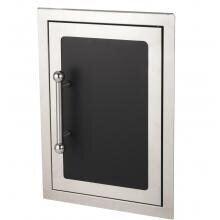 Fire Magic Echelon Black Diamond 14-Inch Right-Hinged Single Access Door - Vertical With Soft Close - 53920HSC-R image