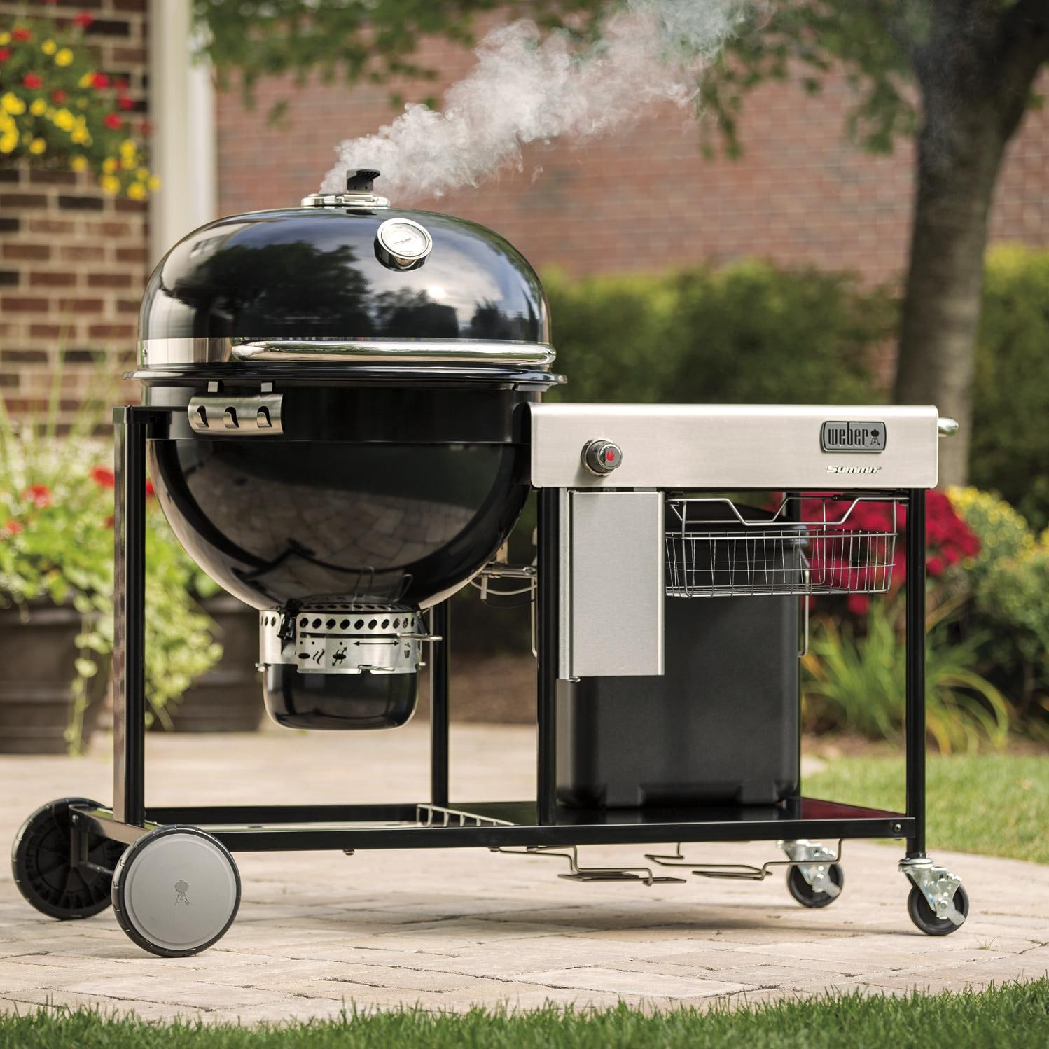 Weber Summit 24 Inch Charcoal Center BBQ Grill   Smoking On The Patio