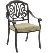 Rosedown Cast Aluminum Patio Dining Chair By Lakeview Outdoor Designs - Linen Sesame