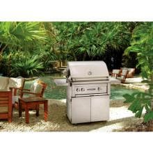 Lynx Sedona 30-Inch Freestanding Propane Gas Grill With One Infrared ProSear Burner And Rotisserie - L500PSFR-LP Sedona By Lynx 30 Inch Propane Gas Grill On Cart With ProSear Burner And Rotisserie on Patio