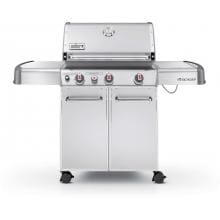 Weber Genesis S-330 Propane Gas Grill On Cart With Sear Burner & Side Burner